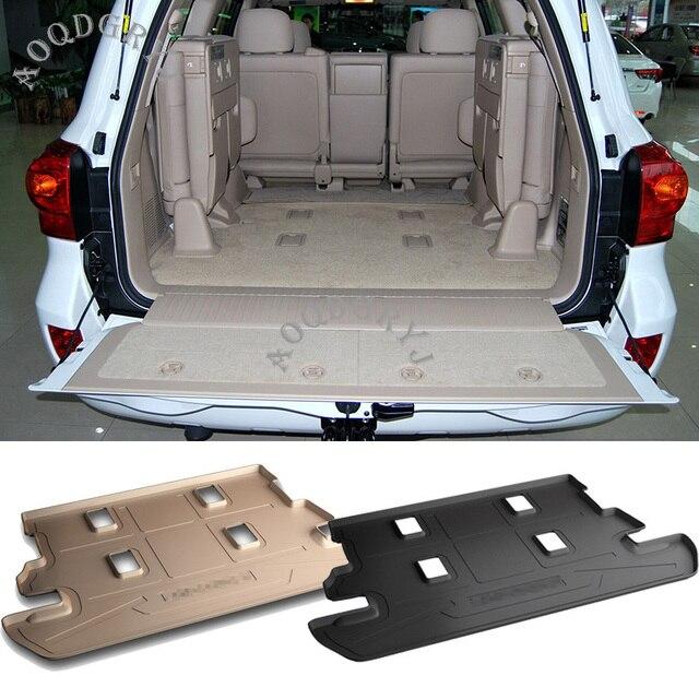 자동차 액세서리 1pcs TPO 고무 트렁크 층 매트 자동 매트 모든 날씨 방수 적합 도요타 랜드 크루저 LC200 2008 2020