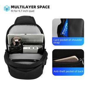 Image 3 - Mark Ryden New Multifunction Crossbody Bag Waterproof Men Sling Chest Bag Fit 9.7 inch Ipad Fashion Shoulder Bag