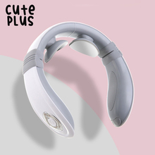 Cuteplus Electric Pulse Neck Massager USB Charge Portable Smart Neck Massage with heat Pain Relief Tool Health Care Relaxation