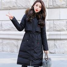 Plus Size Loose Winter Long Female Coat Women Parka Feminina Puffer Jacket Harajuku Coats Outerwear Snow Wear Fur Hood Large Hat цены