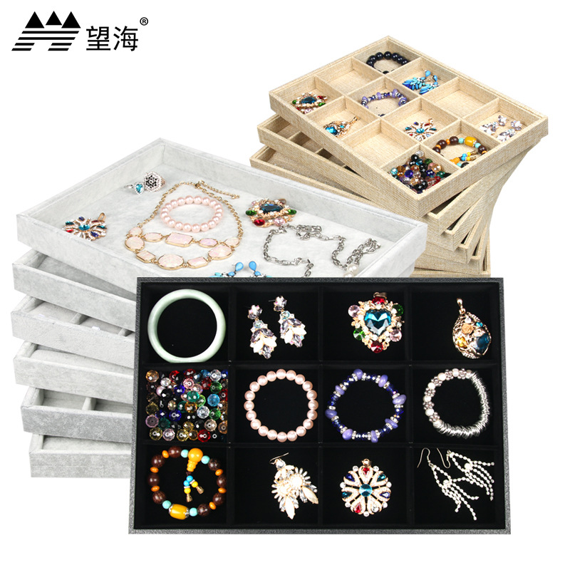 Jewelry Tray Jewelry Necklace Pendant Bracelet Display Earrings Storage Tray Display Props