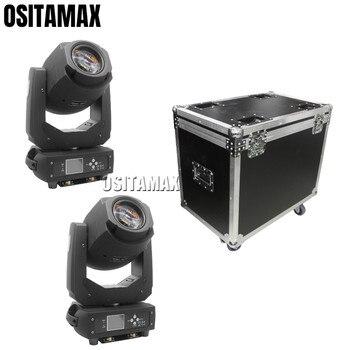2 chiếc + flightcase LED chùm điểm 2in1 200 W DJ Di Chuyển Đầu Đàn Lia tia điểm LED 200 W