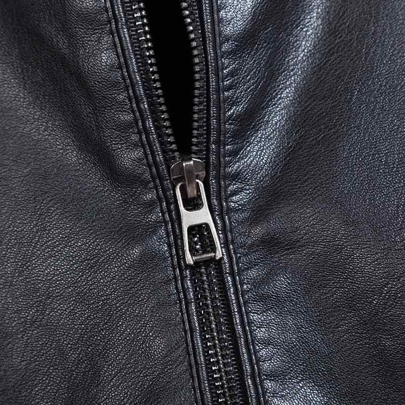 Outono fino plussize 9xl moda 10xl casual gola de beisebol jaqueta masculina de couro