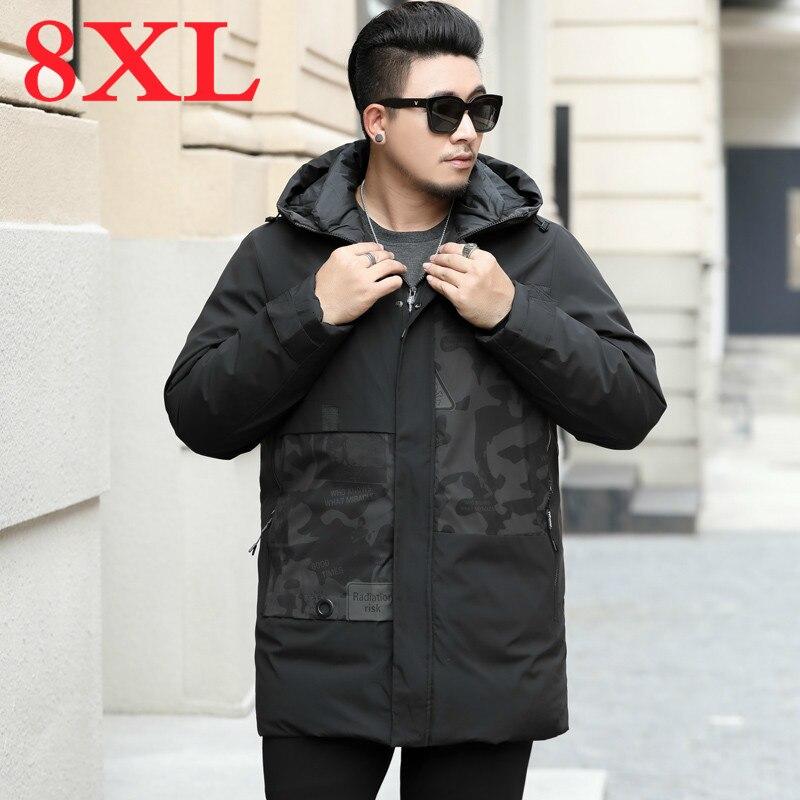 Plus Size 8XL 7XL 6XL 5XL 4XL  Thick Warm Winter Jacket Male Comfortable Cotton Quilted Coat Men Long Parka Men Brand-clothing