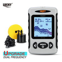 """LUCKY FF718D  2.2""""  LCD Portable Fish Finder Depth Finder 200KHz/83KHz Dual Sonar Frequency 100M Detection Ice fishing"""