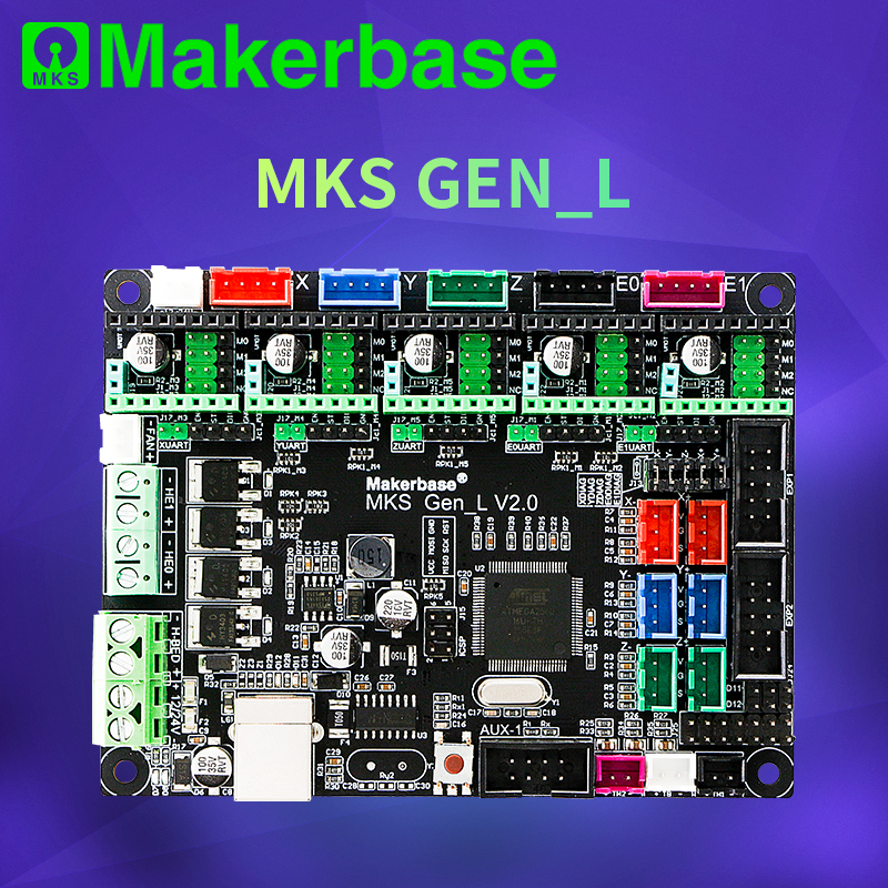 Makerbase 3D yazıcı kurulu MKS Gen L denetleyicisi ile uyumlu Ramps1.4/Mega2560 R3 desteği A4988/TMC2208/2209TMC2100 sürücüler