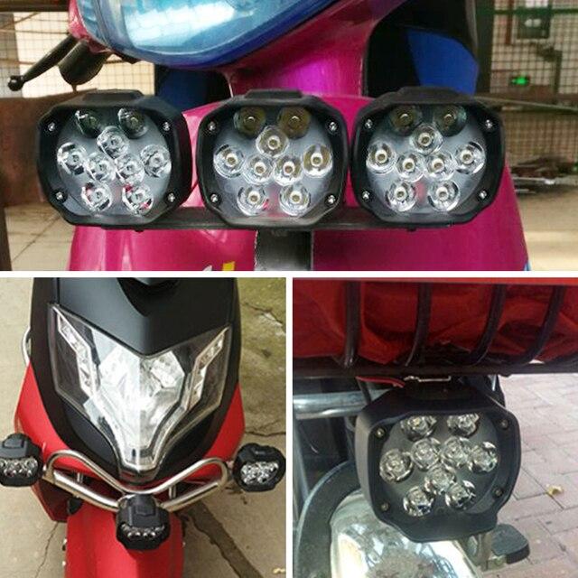 светодиодная фара для мотоцикла 6500k 12 в светодиодная honda фотография