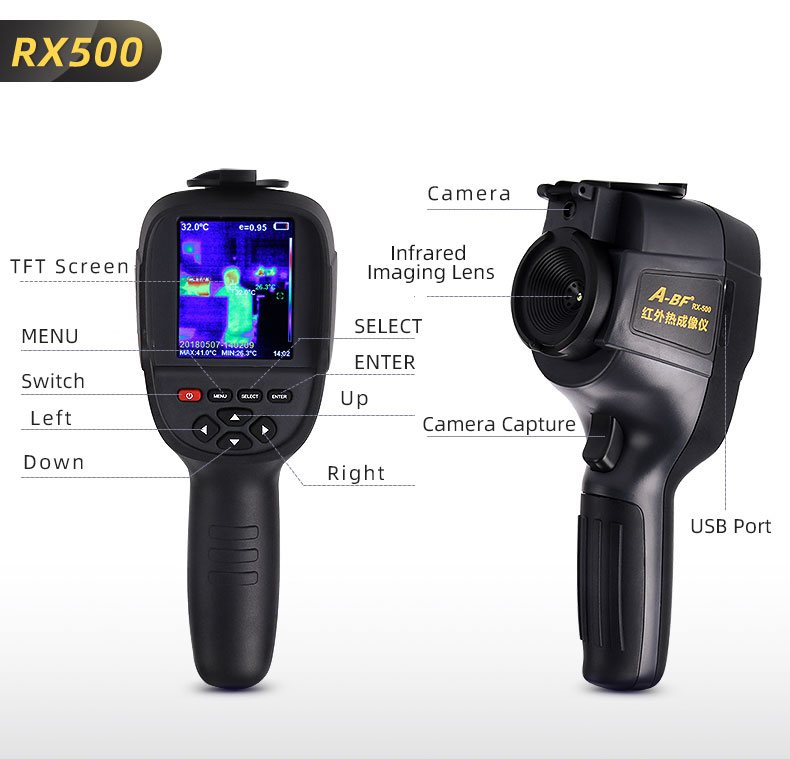 Digital Thermal Camera With A USB Cable Connected To Display For Temperature Measuring 31