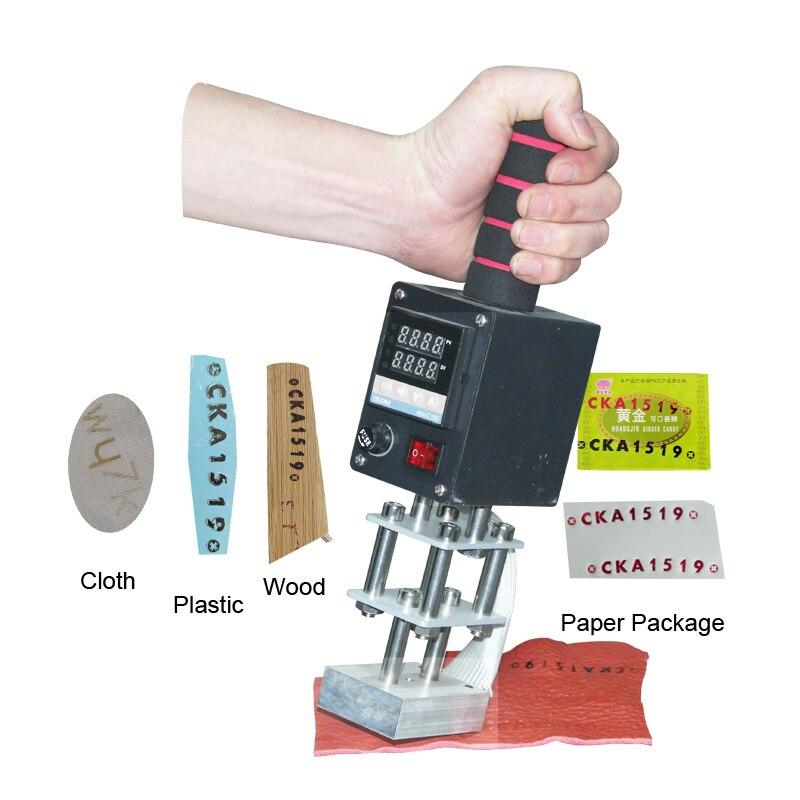Portabel folia do gorącego tłoczenia maszyna do brązowania leaterware artykuły drewniane plastikowe logo stamper marki brajlowskiej 110 V/220 V narzędzie do wytłaczania