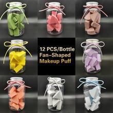 Sponge Makeup-Foundation-Puff Cosmetic Small Super-Soft Wholesale New 12pcs Fan-Shaped