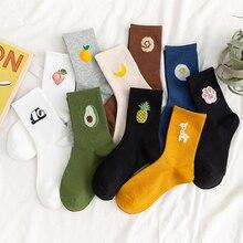 Unisex Funny Fruit Men Socks Harajuku Colorful Mid Socks Men