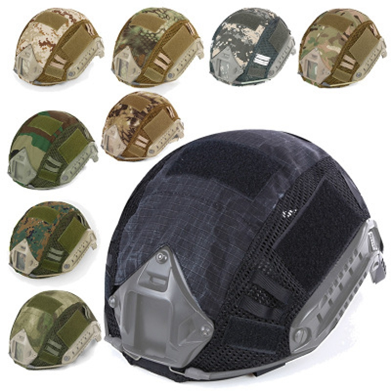 Tactical Camouflage Helmets Cloths CS FAST Helmet Cover Army Paintball Wargame Helmets Cover