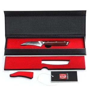Image 5 - YARENH 3 Polegada Faca de Frutas   Melhores Facas de Cozinha   Chef Fruit Peeling Knife   67 Camadas de Aço de Damasco Japonês   Alça de jacarandá