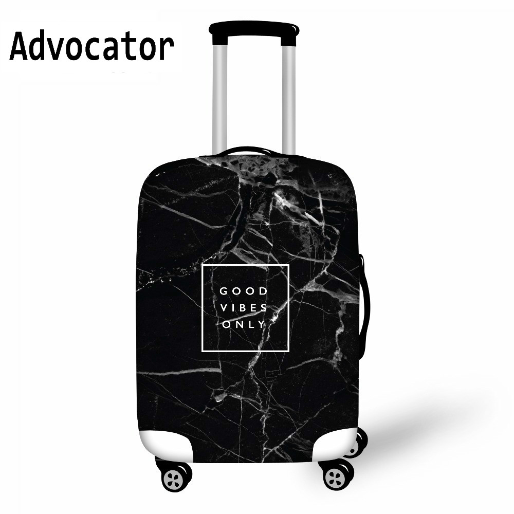 ADVOCATOR Black Marble Printed Luggage Protective Cover For Travel Accessories Luggage  Elastic Suitcase Cover Dustproof Cover