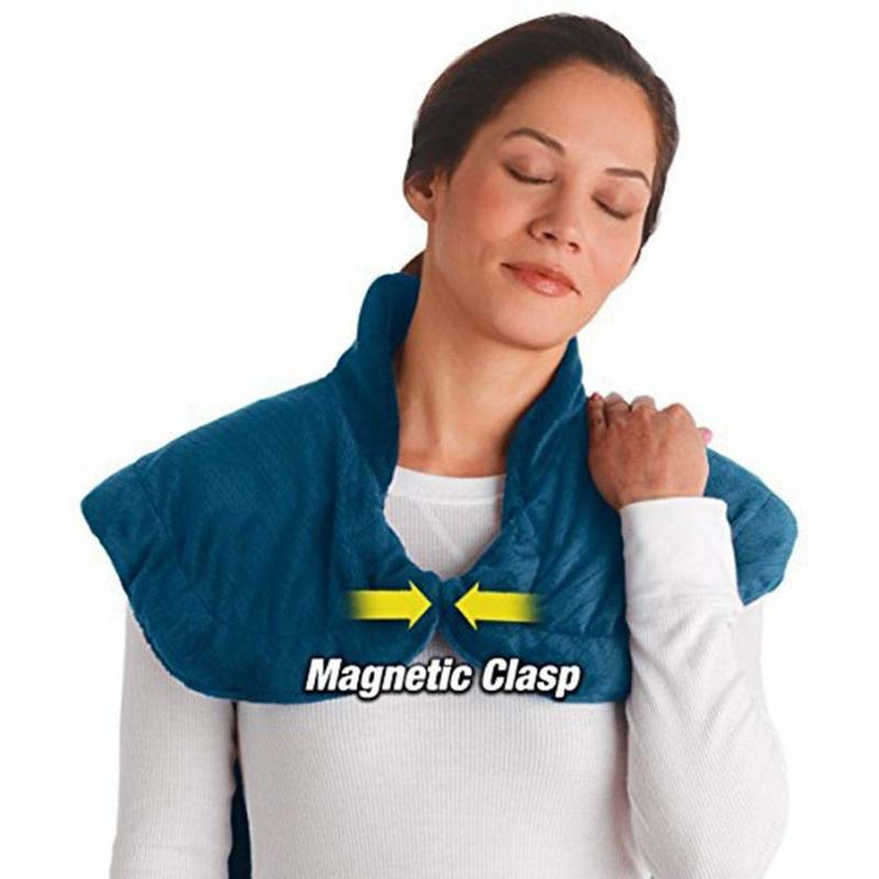 Фланель здоровья рельеф Обёрточная бумага шеи, плеч обратно терапия Мышцы стелька для снятия боли массируя лента термическая бытовой массажер