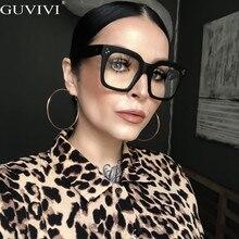 Guvivi New Square Sunglasses Women Brand Designer Big Frame Gradient Vintage Sun Glasses For Men Oculos De Sol Feminino UV400