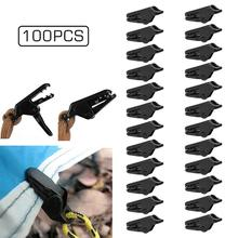 20/50/100pcs Black Awning Tarp Clips Tie Down For Outdoor Camping Canopy Tent for Hiking Travell Tent Awning Caravan Accessory