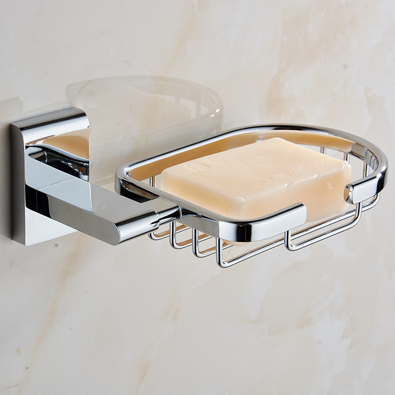 Sanitary Ware Hardware Accessories Manufacturers Direct Selling Copper Chrome Fragrant Soap Dish Soap Holder Soap Dish the Bathr