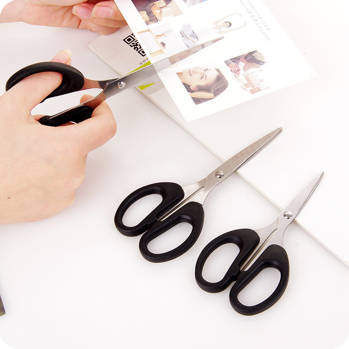 Office Scissors Students DIY Paper Cutting Knife Household Kitchen Stainless Steel Scissors Handmade Small Nail-scissor