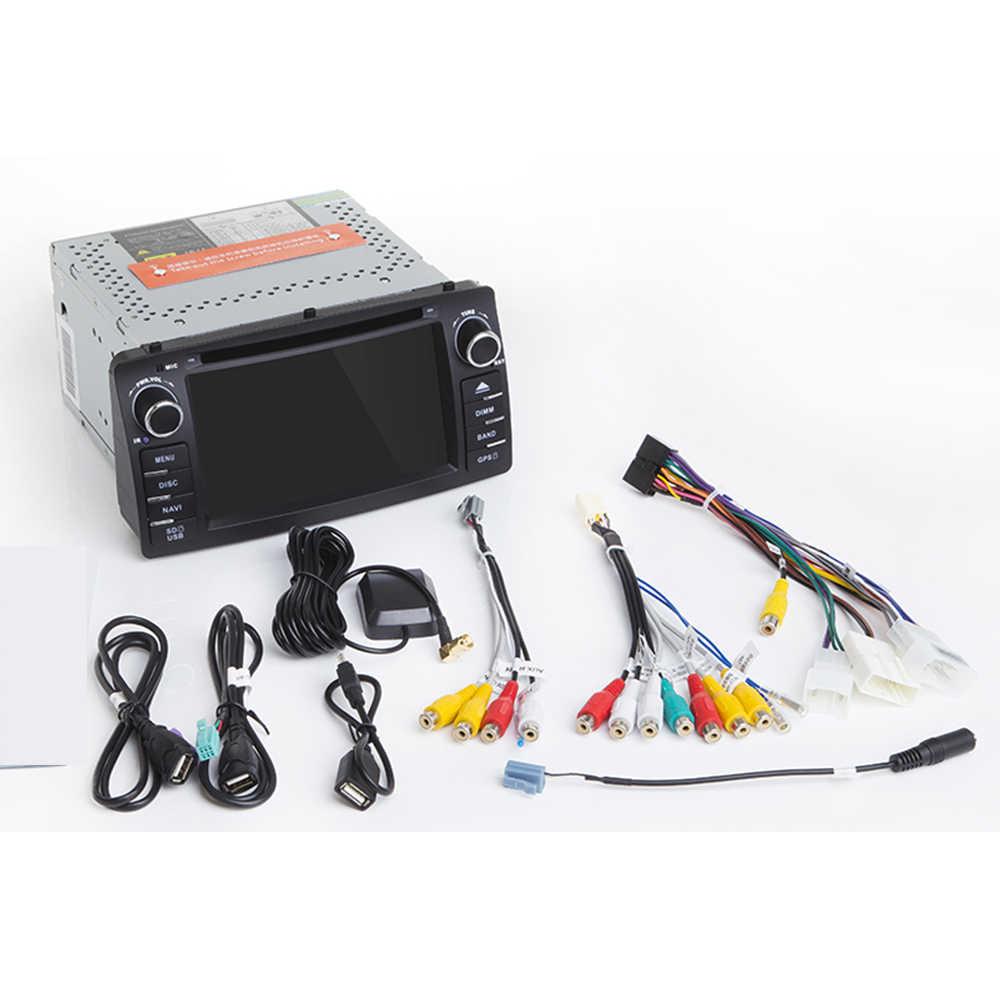 Lecteur DVD de voiture Android 10 pour Toyota Corolla E120 BYD F3 2 Din voiture multimédia stéréo GPS AutoRadio Navigation Wifi OBD2