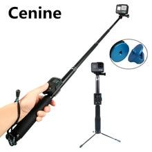 Go Pro 7 Palo Selfie Stick ขาตั้งกล้องสำหรับ GoPro HERO 8 7 6 5 DJI Pau De Selfie Monopod สำหรับ SJCAM Xiaomi Yi Eken H9 Selfie อุปกรณ์เสริม