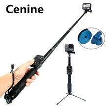 Đi Pro 7 PALO Selfie Stick Tripod Cho GoPro Hero 8 7 6 5 DJI Pau De Gậy Chụp Hình Selfie Monopod Cho sjcam Xiaomi Yi EKEN H9 Selfi Phụ Kiện