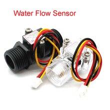Misuratore di Flusso dacqua Flussometro Sala Sensore di Flusso Indicatore Contatore Caudalimetro G1/2 0.5 25L/min 1.2MPa F = 6 * Q Sensore di Flusso