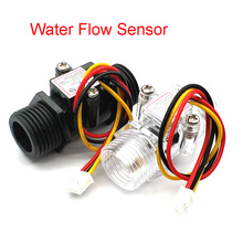Water Flowmeter Hall Flow Sensor Indicatorเคาน์เตอร์Caudalimetro G1/2 0.5 25L/Min 1.2MPa F = 6 * Q Flow Sensor