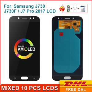 Super AMOLED LCD For Samsung Galaxy J730 J730F J7 Pro 2017 LCD Display Touch Screen Digitizer Assembly For Samsung J730 Display