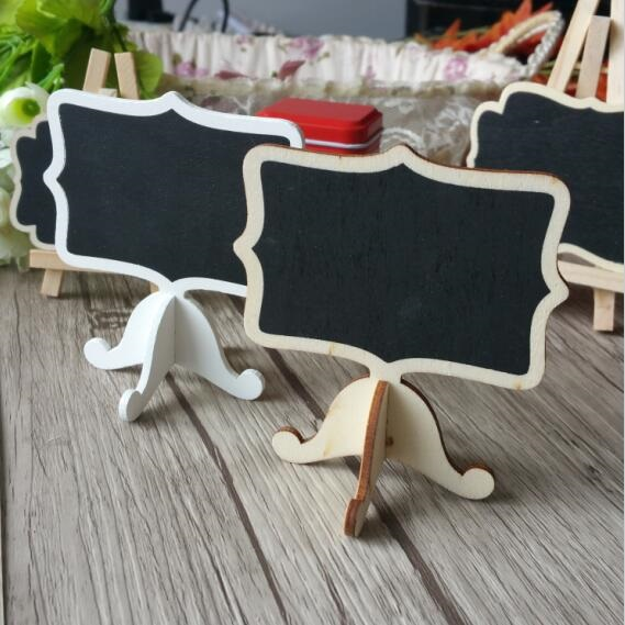 10pcs/Lot Wooden Mini Blackboard Set For Wedding Party Decorations Chalkboards Message Board Teaching Stationery