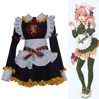 Anime Fate/Grand Order Fate Apocrypha Rider Astolfo Cosplay JK School Uniform Sailor Suit Women Fancy Outfit Halloween Costume