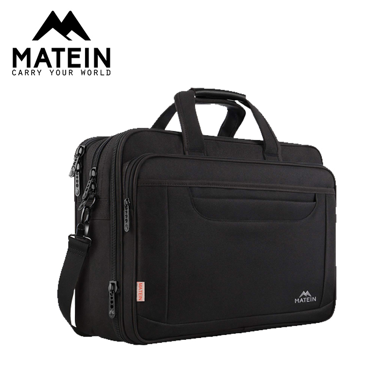 Matein 17inch Expandable Briefcase For Men Water Proof Polyester Laptop Briefcase For Male Business Office Bags Travel Bags