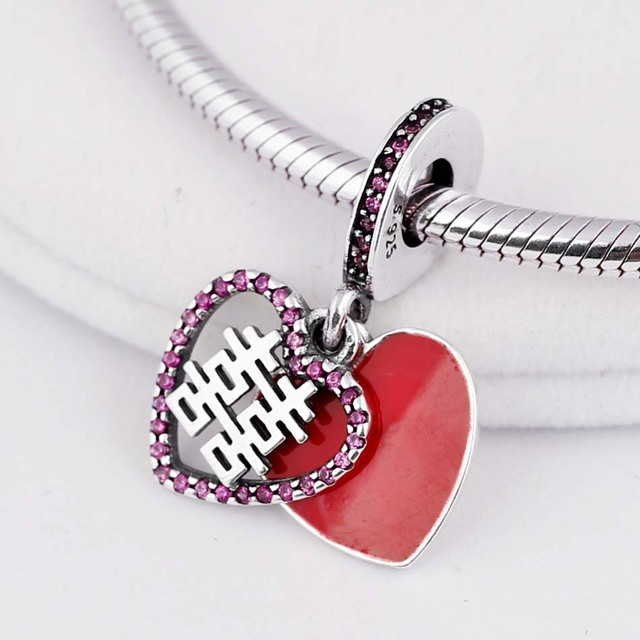 Tree of Love Key To My Heart Minnie High heels Fortune & Luck Pendant Charm Fit Pandora Bracelet 925 Sterling Silver Beads
