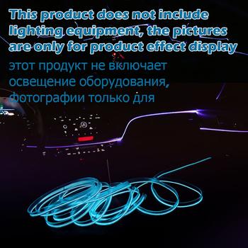 3mm ozdoby do wnętrza samochodu światłowodowy neonowy przewód świecący EL Wire Strip przewodnik światła rozszerzenie akcesoria do oświetlenia otoczenia tanie i dobre opinie NONE CN (pochodzenie) Klimatyczna lampa Light guide accessories 1 - 10 meter Lucency Optical fiber Light guide strip PMMA Fiber Optic Cable