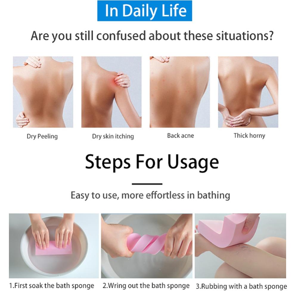 Soft Exfoliating Body Skin Bath Shower Bathroom Tools Spa Brush Cleaning Brush Washing Sponge Pad Scrub Bathing Accessories 5