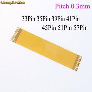 ChengHaoRan, 1 Uds., dirección delantera 33/35/39/41/45 Pin FFC FPC, Cable plano Flexible de inclinación de 0,3mm, longitud de la misma dirección, 20mm-200mm