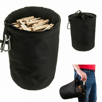 Cylinder clothespin storage bag Clothesline Peg Organizer Storage Bags Waterproof Dust-proof Laundry Supplies фото