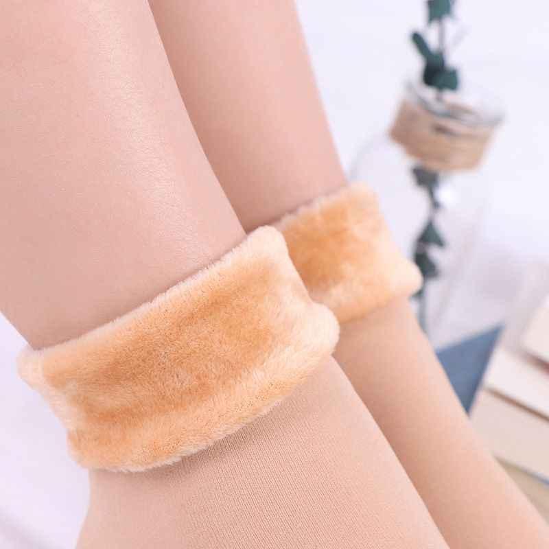 Winter Warm Unisex Thicken Thermal Wool Cashmere Snow Socks Seamless Velvet Boots Floor Sleeping Socks For Women And Men