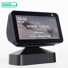 GGMM Original Battery Base For Echo Show 5 Portable Docking Station For Amazon Alexa Echo Show 5 Rechargeable Backup Battery 24H