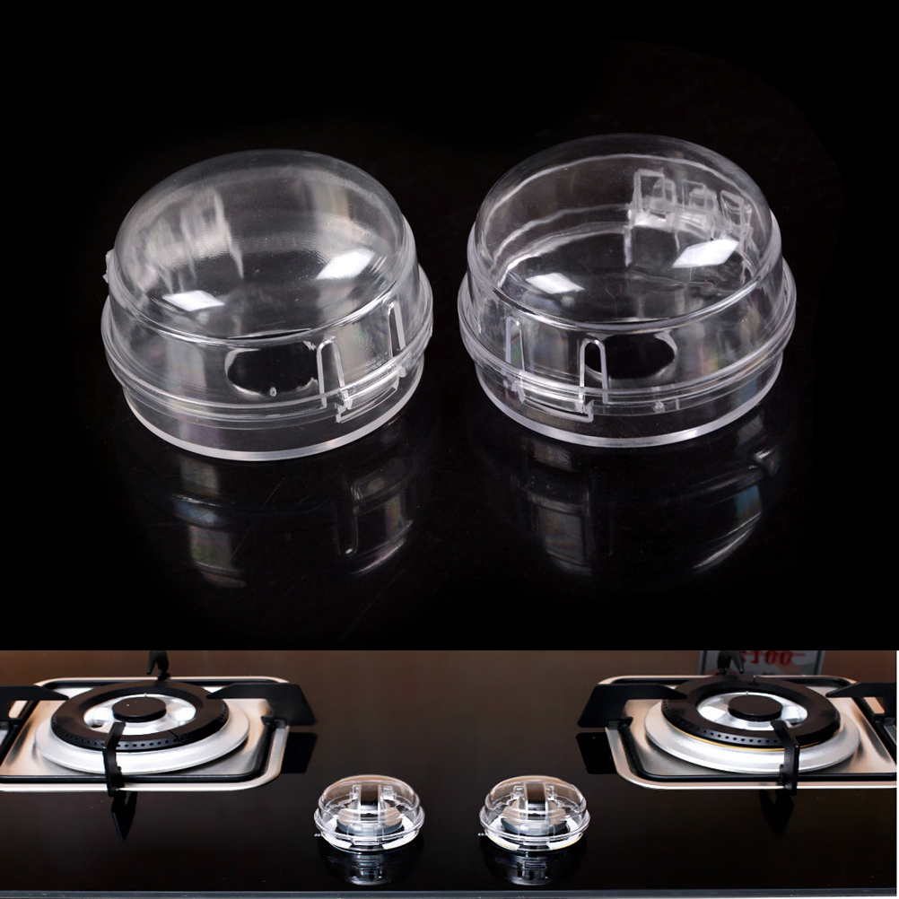 2Pcs Gas Stove Oven Knob Cover Padlock Lid Lock Protector Baby Kitchen Safety Children Protection Accessories