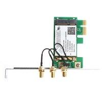 אנטנה עבור 2.4 Dual-Band / 5GHz 300M Desktop PCI-E כרטיס אלחוטי + 3 אנטנה עבור אינטל 4965AGN U1JA (1)