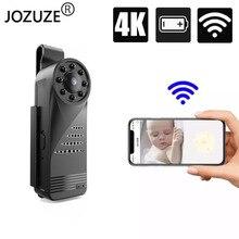 JOZUZE كاميرا صغيرة WiFi 4K HD ، كاميرا فيديو صغيرة صغيرة مع اكتشاف الحركة والرؤية الليلية ، HD ، للجسم