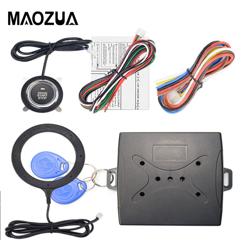 12V Car Start Stop Button Engine Push Start Button Alarm RFID Lock Keyless System Door Push Button Tactile Buttons