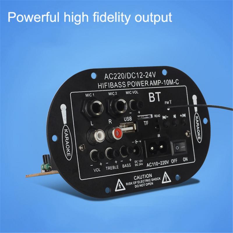12V 24V 220V Three-purpose SF-2MIC Car Digital Amplifier Mono Bluetooth Function