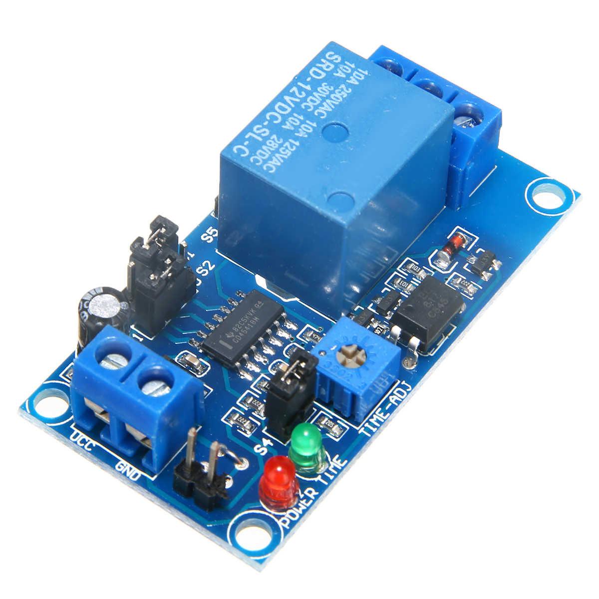 1pc 調整可能な時間リレーモジュール DC 12 12v の時間遅延リレーモジュール回路タイマータイミングボードスイッチトリガ