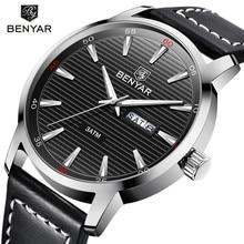 BENYAR Fashion Business Mens Watches Top Brand Luxury Quartz watch men Sport Waterproof Military WristWatch Relogio Masculino