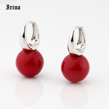 Irina New Arrivals 585 Rose Gold Color Round Pearls Dangle Earrings Women Cute Girls Party Simple Noble Long Jewelry Earing 5