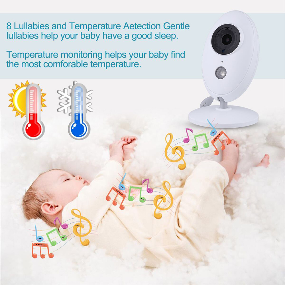 CYSINCOS 2.4G Wireless 3.2 Inches LCD 2 Way Audio Talk Night Vision Video Video Baby Monitor Nanny Baby Eletronic Monitor