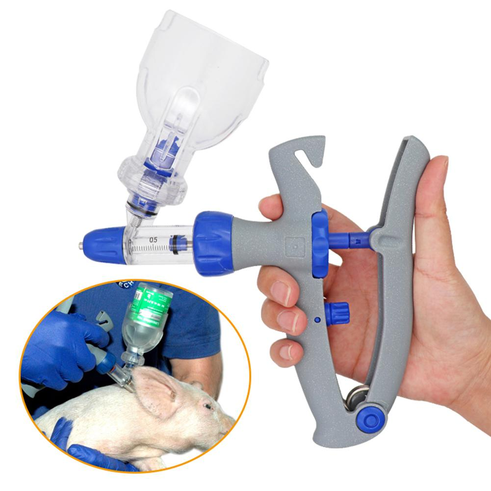 1ml/2ml/5ml Syringe Continuous Injector Adjustable Automatic Vaccine Injection For Poultry