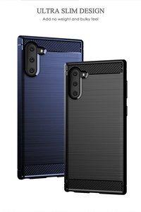 Image 4 - Silikon Telefon Fall Für Samsung Galaxy Note 10 Pro Weichen Carbon Zurück Abdeckung Stoßstange galaxi Note10 Plus 10Pro Note10Pro 10 Plus